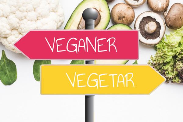 Forskel på vegetar og vegansk