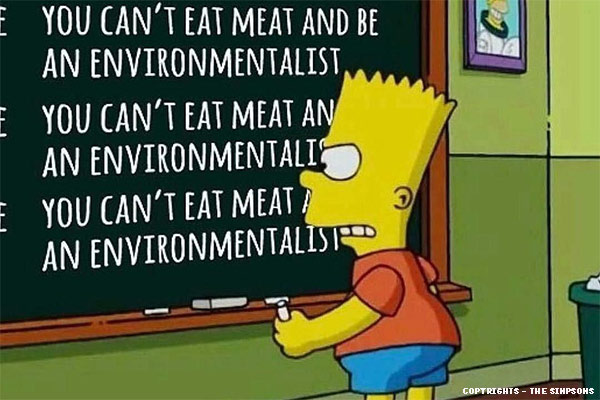 simpsons joke om veganer