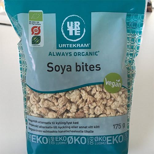 anmeldelse og test af urtekram soya bites vegansk fars