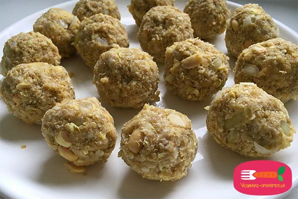 veganske boller i karry opskrift med quinoa
