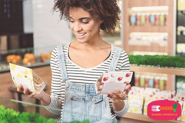 veganske produkter i dagligvarebutikker og supermarkeder