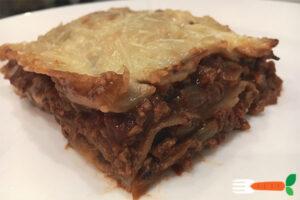 vegansk lasagne med sojagranulat soya fars opskrift