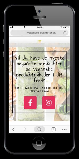 veganske opskrifter -vegansk madblog
