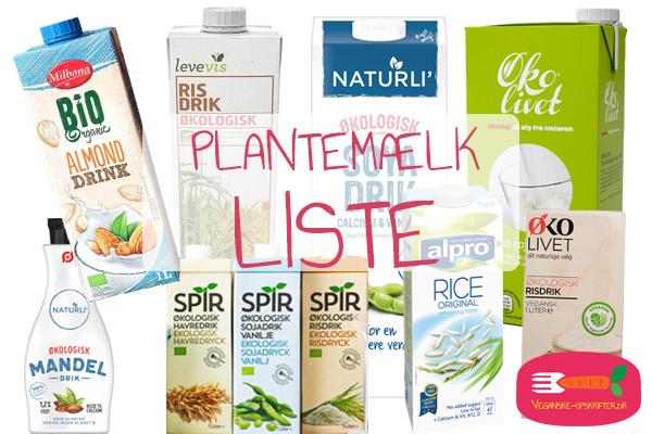 plantemælk i dagligvarebutikker