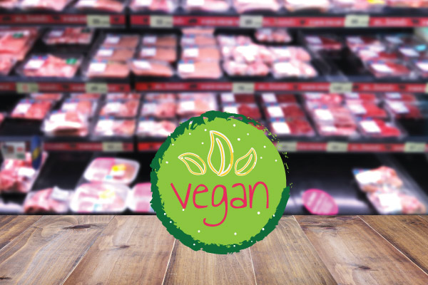 vegansk kød i dagligvarebutikker