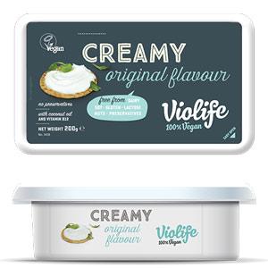 vegansk ost - smøreost violife køb i dagligvarebutikker