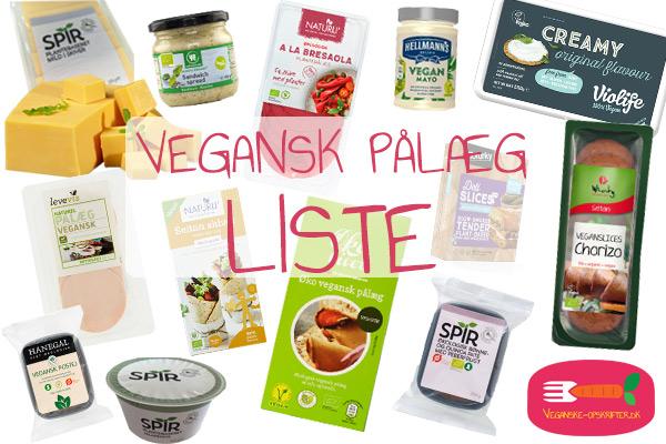 vegansk pålæg i dagligvarebutikker - liste