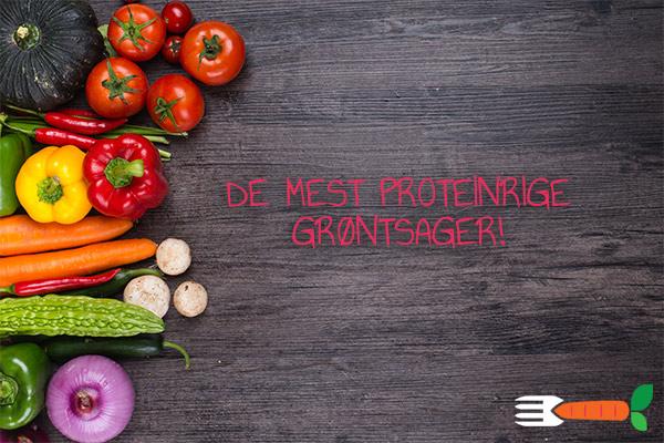 grøntsager med meget protein liste