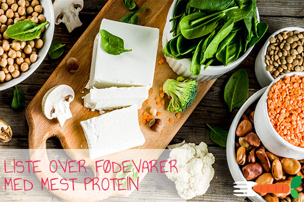 proteinholdige fødevarer liste