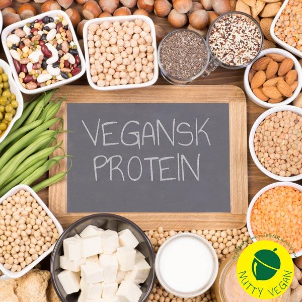 veganske proteinholdige fødevarer