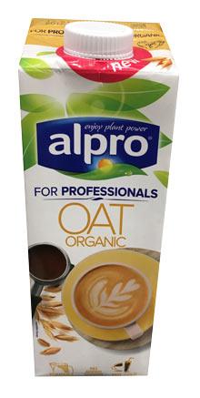 alpro vegansk mælk til kaffe med havre