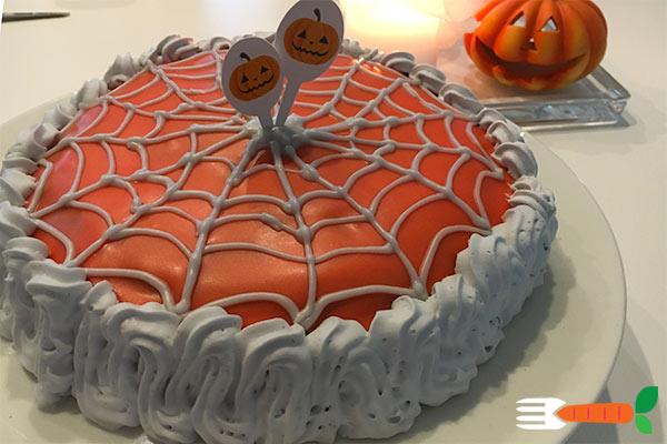 Vegansk Halloweenkage - lagkage - opskrift