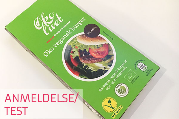 anmeldelse af økolivet vegansk burger Aldi