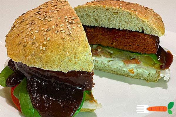 vegansk burger opskrift - den bedste