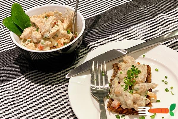 hjemmelavet vegansk hønsesalat opskrift