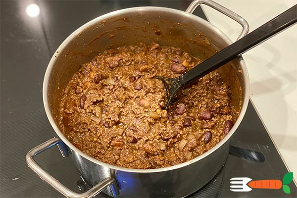 vegansk chili con carne opskrift med sojagranulat