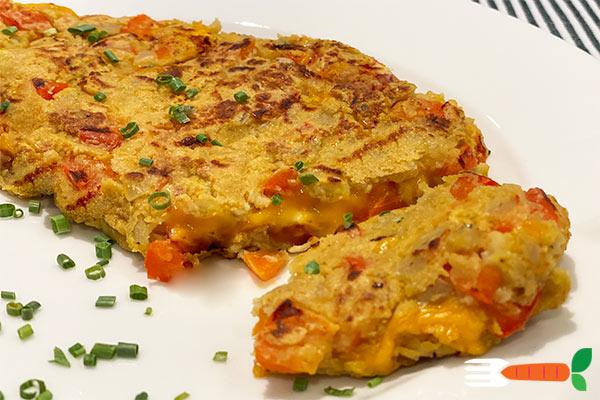 vegansk omelet opskrift med kikærtemel og sort salt
