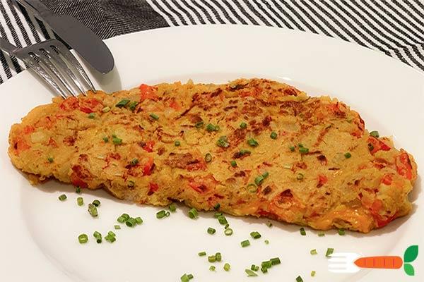 vegansk omelet opskrift