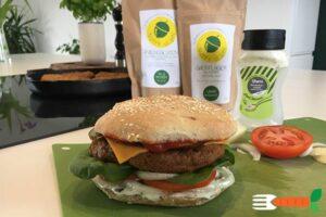 veganske burgerbøffer af hvedegluten - seitanbøffer