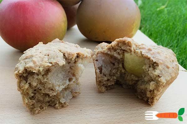 vegansk muffins opskrift med æbler