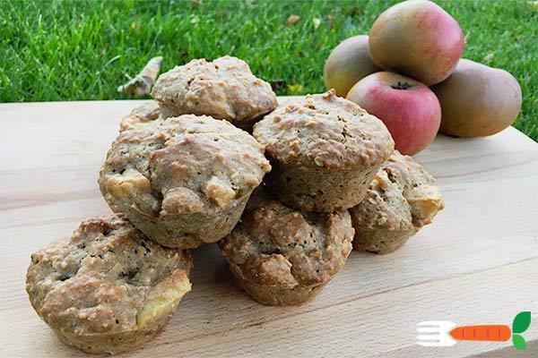 veganske æblemuffins opskrift