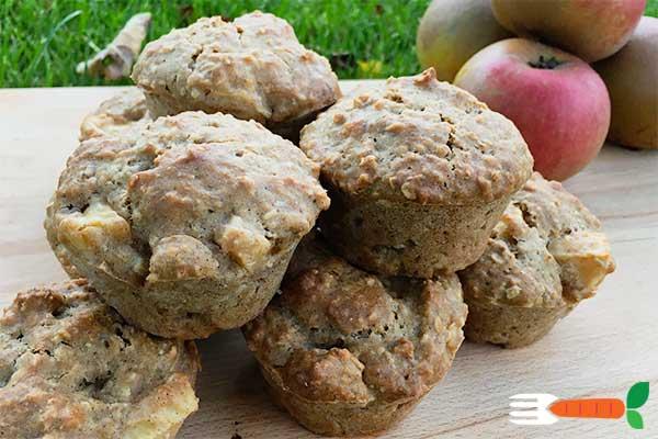 veganske æblemuffins uden æg opskrift